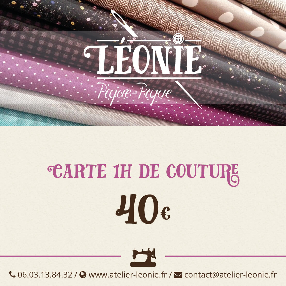 carte de cours de couture l onie pique pique paris 15 do it yourself. Black Bedroom Furniture Sets. Home Design Ideas